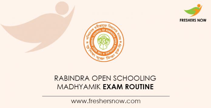 Rabindra Open Schooling Madhyamik Exam Routine