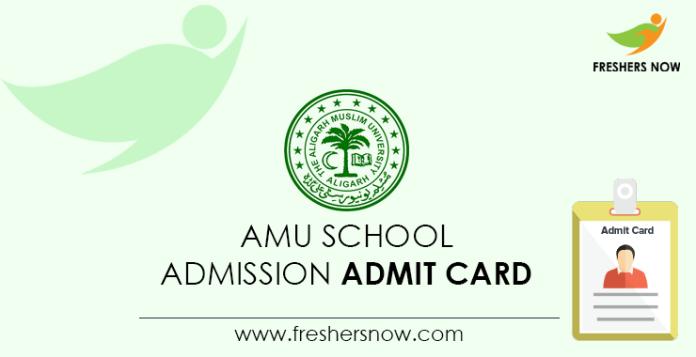 AMU School Admission Admit Card