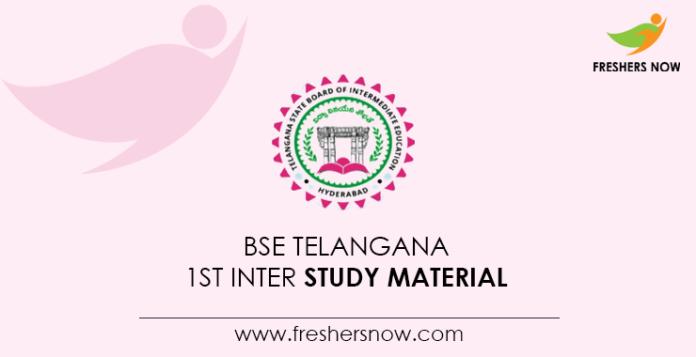 BSE Telangana 1st Inter Study Material